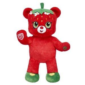 Build A Bear Retired Shopkins Strawberry Kiss Plush Stuffed Bear